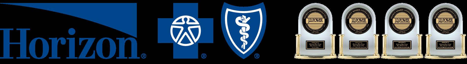 The Horizon Blue Cross Blue Shield Logo with JD Power