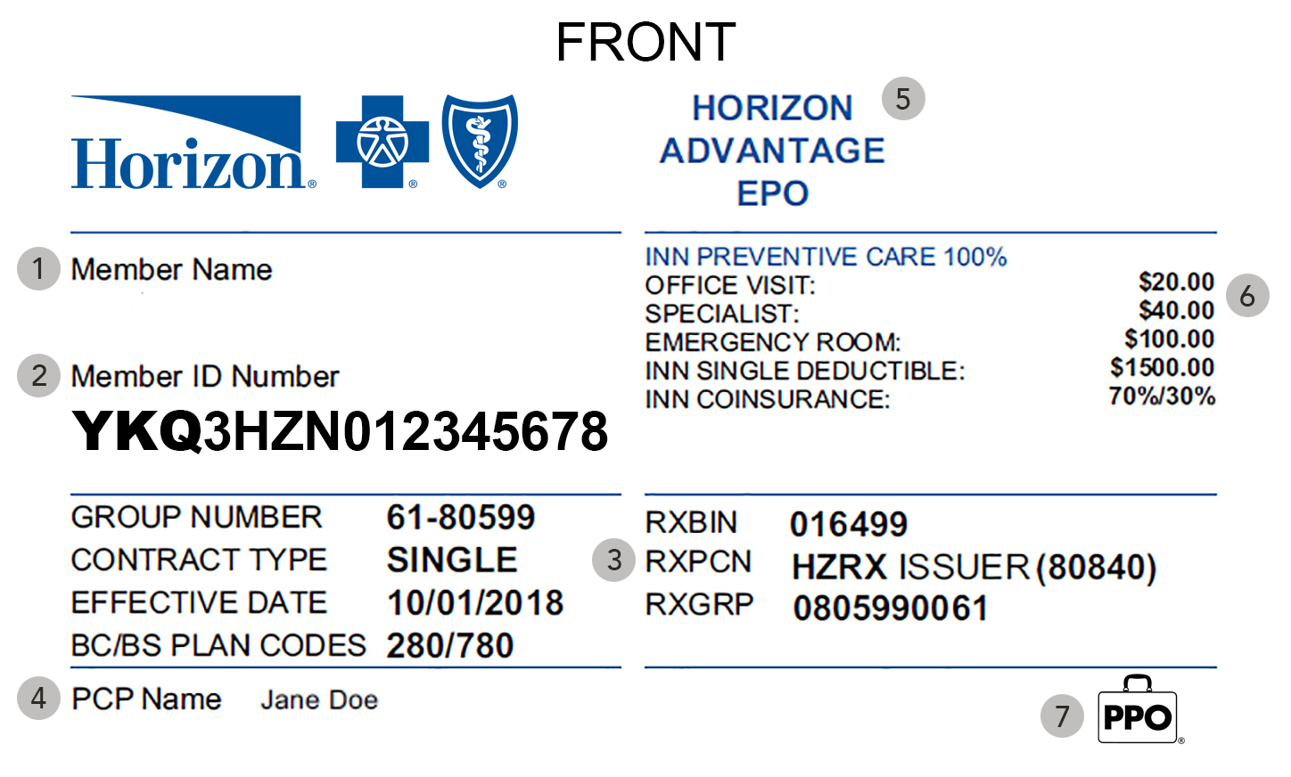 My Member Id Card Horizon Blue Cross Blue Shield Of New Jersey