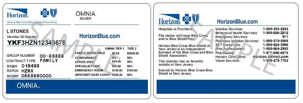 Omnia Health Plans Horizon Blue Cross Blue Shield Of New