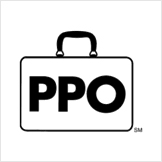 PPO letters in a suitcase logo.